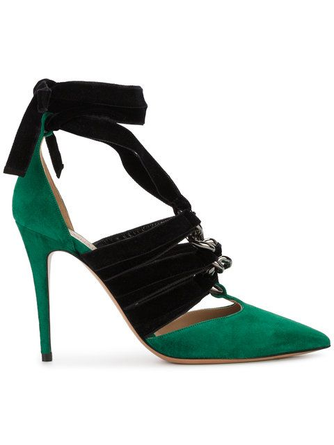 Valentino pointed contrast pumps