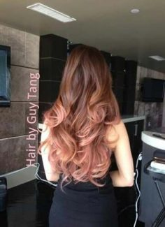 pink ombre golden hair would like to try