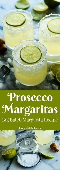 Prosecco margaritas (cocktail of large quantities) | Recipes