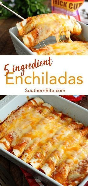 These quick and easy enchiladas only require 5 ingredients and are ready in no time | Recipes