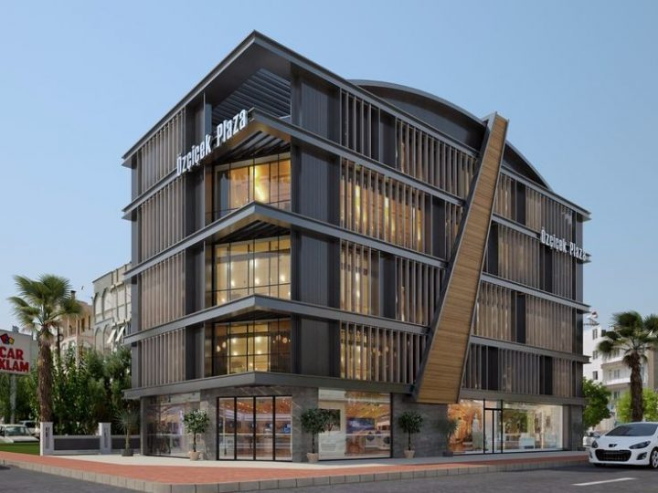 Exterior design business center   Architectures