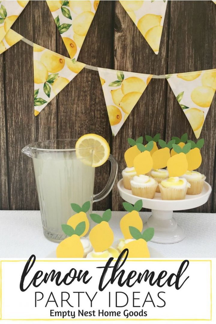 Lemon Cupcake Toppers • Fruit themed party • Farmer's market birthday party | Baby Showers