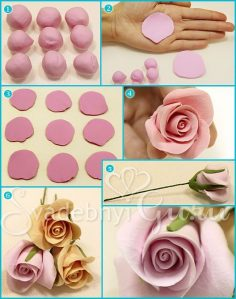 fondant flowers | TUTORIAL | Recipes