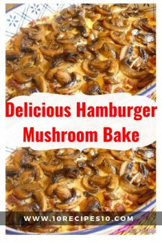 Delicious Hamburger with Baked Mushroom | Recipes