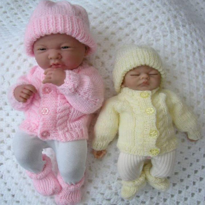 "10 ""- 15"" Premature baby, dolls knitting patterns | Knitting Patterns"