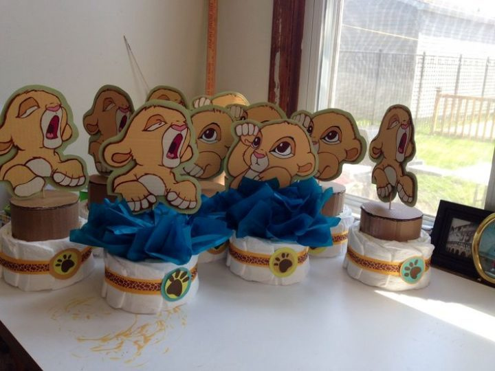 Baby simba Centerpieces, the lion king by delabhe baby shower baby boy   Baby Showers