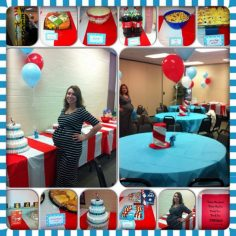 Dr Suess Baby Shower decorations and food | Baby Showers