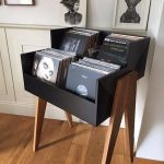 Excellent record storage for the home: it looks a bit like a record booth | WoodWorking