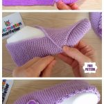 Mesh stitch Square sneakers Free knitting pattern | Knitting Patterns