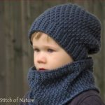 The Portland Slouchy Hat and Cowl Crochet Pattern Set by Stitch of Nature | Knitting Patterns