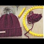 LOOM KNIT Hat Easy Tutorial   Strickring   Hat   Knitting Patterns