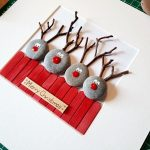 PICTURE REINDEER PICTURE PEBBLE | Diy and Crafts