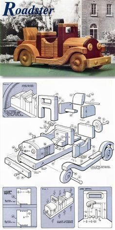 Plan Roadster wooden – Wooden toy for children | WoodWorking