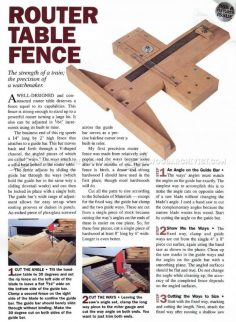 Precision Router Table Fence Plans – Router | WoodWorking