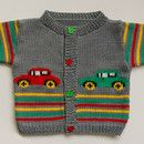 Hand-knitted cardigan in gray cotton | Knitting Patterns