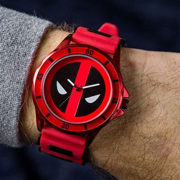 WATCH WITH RED DEADPOOL LOGO | Marvel Comics