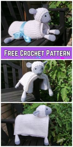 Hug and play sheep blanket crochet pattern | Knitting Patterns