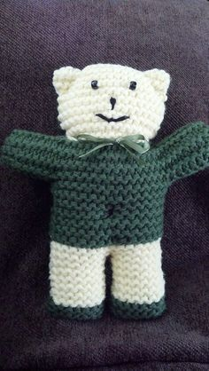 Knitted pattern for teddy bear