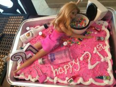 21ST BIRTHDAY OF HOT MESS BARBIE CAKE | Diy and Crafts