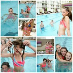 Maddie Ziegler relaxed in the pool before the nationals