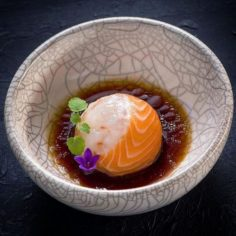 "Linking the Culinary World uses Instagram: ""Salmon-Crab ball amuse bouche 