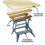 DIY Tip of the Day: Extended Portable Workbench | WoodWorking