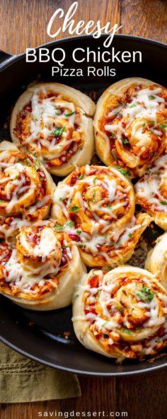 BBQ chicken pizza rolls | New Recipes
