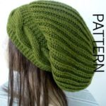 PATTERN Fabric Hat for Women Instant Download Knitted Hat Pattern Digital Cable Knitted Hat Pattern
