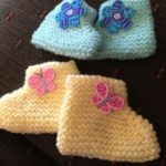 Free knitting pattern for beginners baby booties | Knitting Patterns