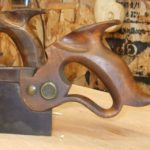 Close-up of the handle of a Disston dovetail saw 8 | Wood Working