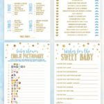 Twinkle Twinkle Little Star Baby Shower Games, Boy Baby Shower Ideas, Blue Baby Shower Games | Baby Showers