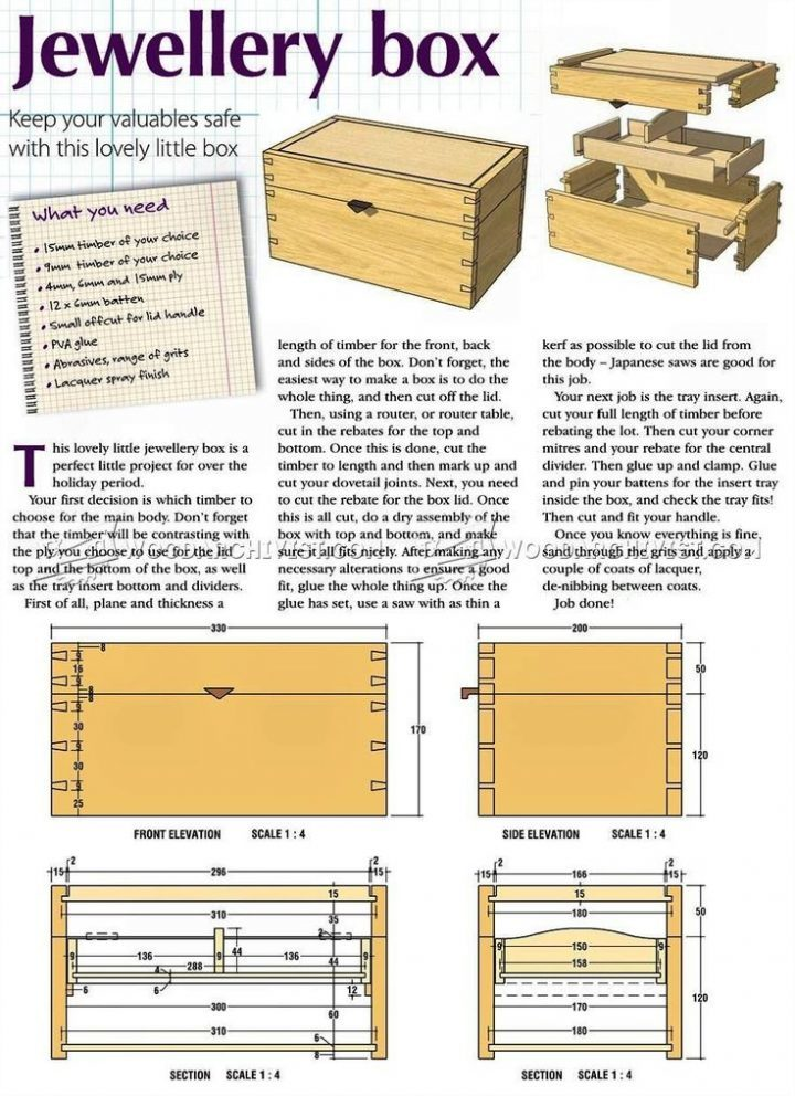 DIY jewelry box – Woodworking plans