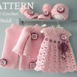 Knitting PATTERN Baby jacket Crochet dress Baby dress Baby Knitted cardigan Baby girl pattern