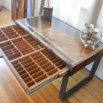 Reusable wooden coffee table – printer drawer | WoodWorking