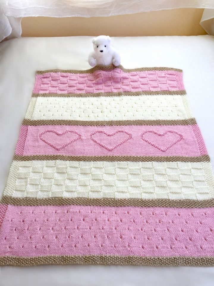 Baby blanket pattern, Knitted baby blanket pattern | Knitting Patterns