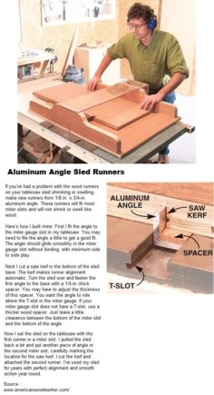 Aluminum sled with slide | WoodWorking