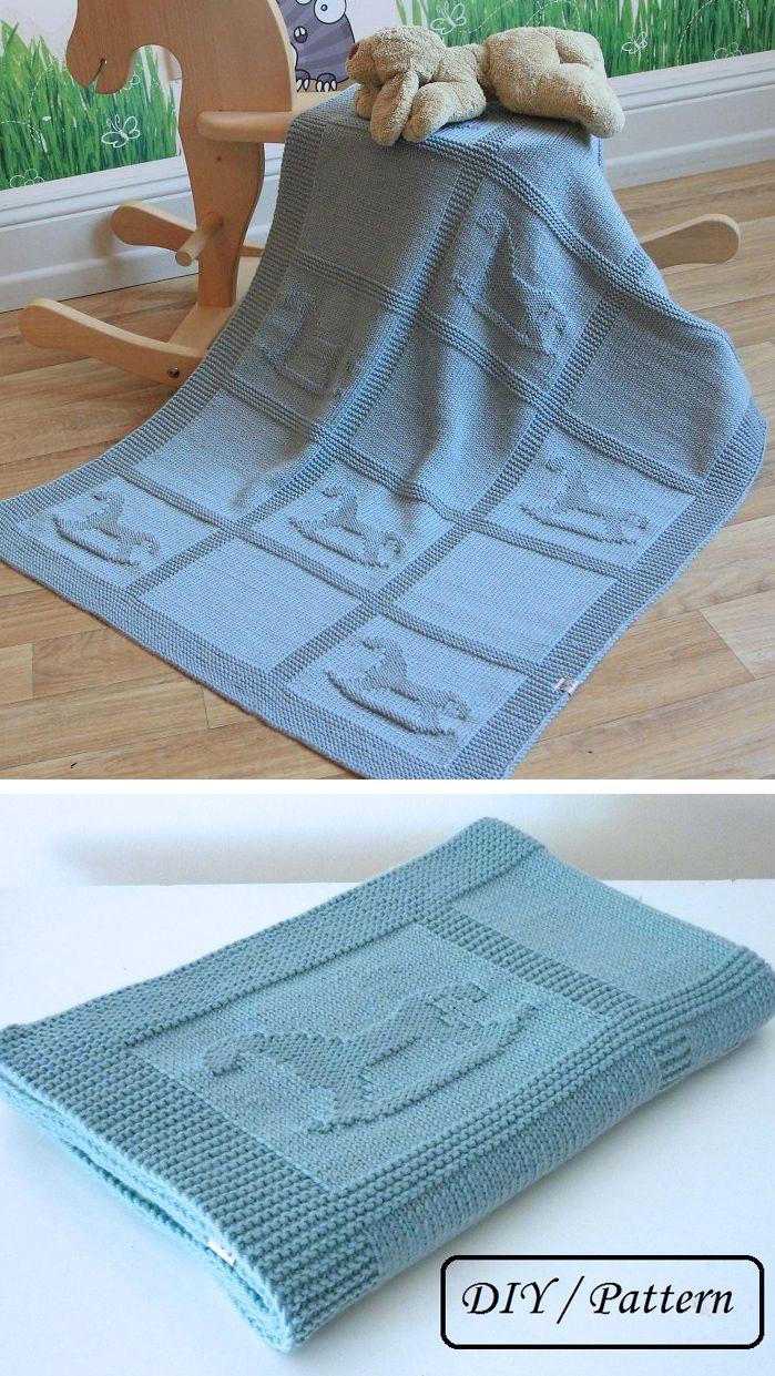 Knitting pattern for rocking baby blanket | Knitting Patterns
