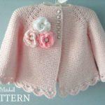 Knitted Pattern Baby Jacket Baby Jacket Cardigan Garter | Knitting Patterns