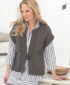 Knit A Sleeveless V-neck Sweater for Men   Knitting Patterns