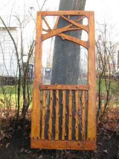 A screen door that is both rustic and artistic | WoodWorking
