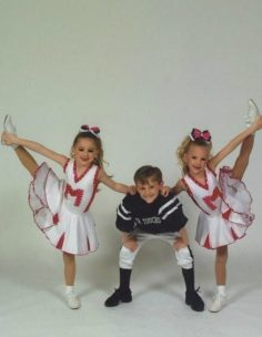 Chloe, Paige and Josh – photo shoot of Mr. Touchdown 2009   Dance Moms