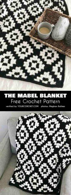The free crochet pattern Mabel blanket   Knitting Patterns