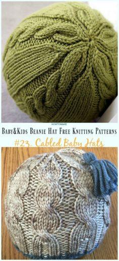 Baby & Kids Beanie Hat Free knitting patterns   Knitting Patterns