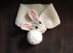 Cute Bunny children's bunny scarf pattern   Knitting Patterns