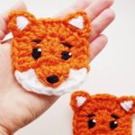 2 piece crochet bear applique set, forest animals, crochet animals, teddy bear appliques | Knitting Patterns