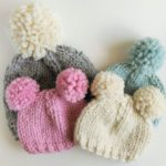 Knitted Pattern // Chunky Pom Pom Hat // Knitted Knitted Hat Pattern // Beanie Pattern | Knitting Patterns