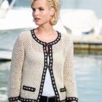 Schachenmayr Yarns Chanel Style Ladies Jacket, 1907 free pattern | Knitting Patterns