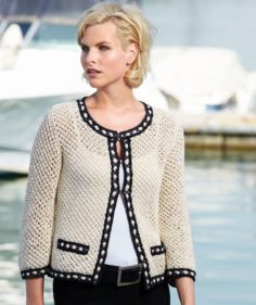 Schachenmayr Yarns Chanel Style Ladies Jacket, 1907 free pattern | Knitting Patterns