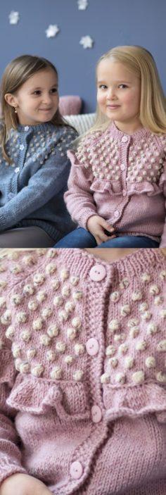 Free weave pattern for a Bobble Yoke Girl cardigan   Knitting Patterns