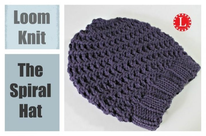 Loom knit hat: Super Easy Spiral | Knitting Patterns